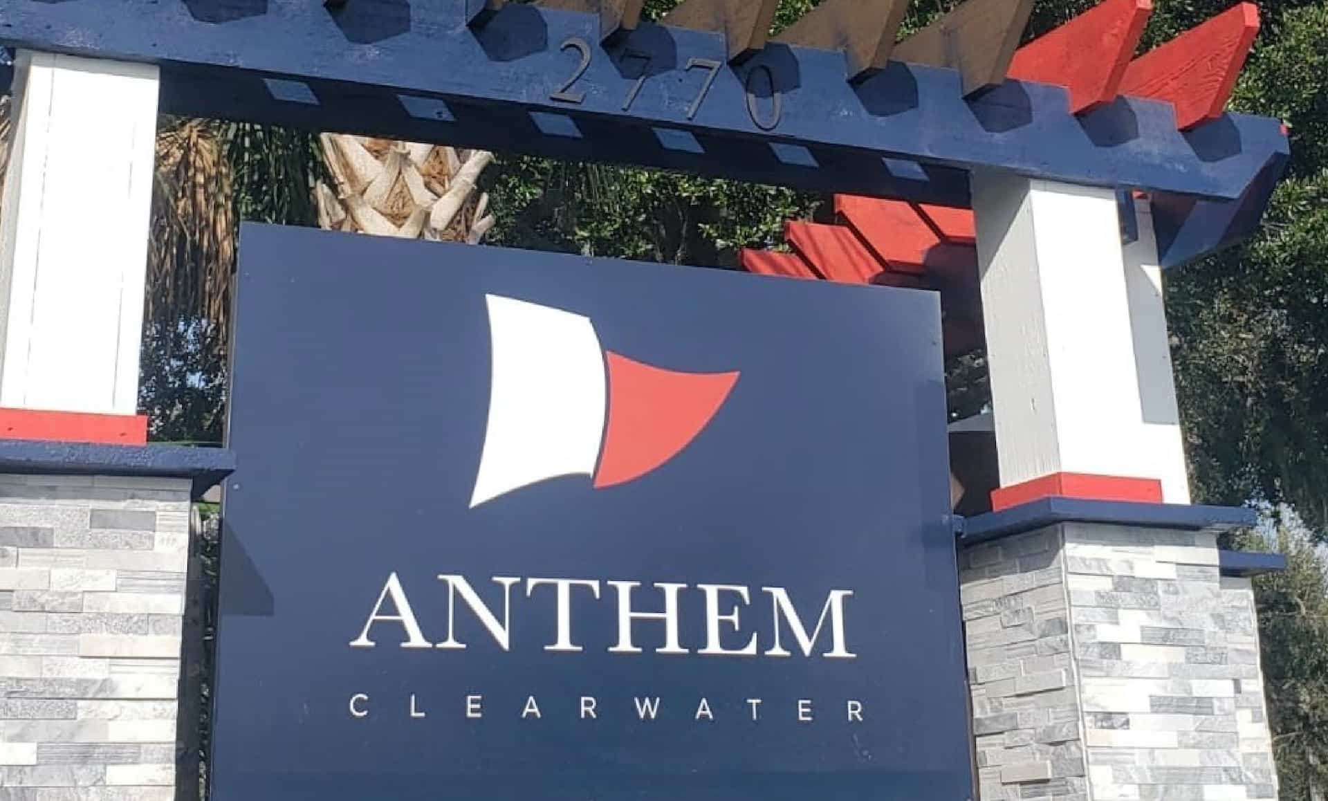 Anthem Clearwater sign