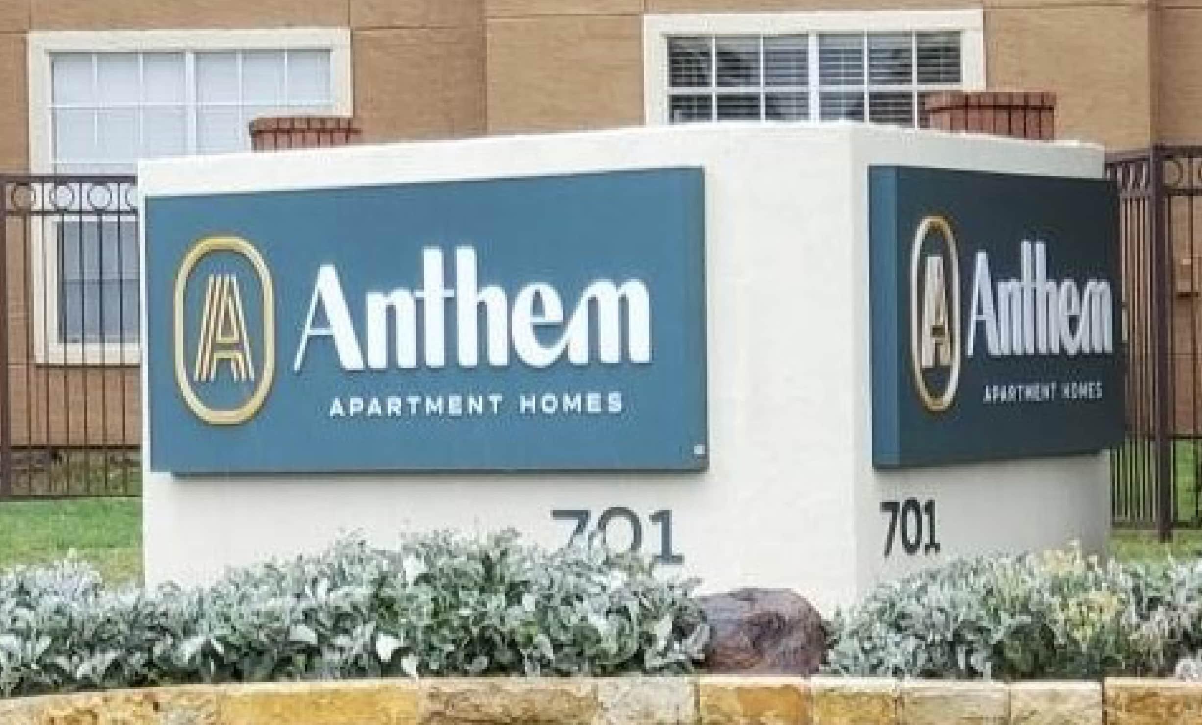 Anthem Apartment Homes sign